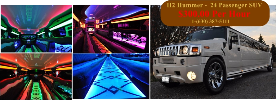 Chicago Triple Axle Hummer Limo - Butterfly & Jet Doors